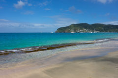 An idyllic beach in the caribbean Royalty Free Stock Images