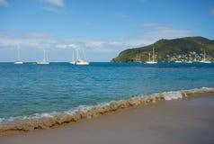 An idyllic beach in the caribbean Stock Image
