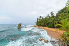 Idyllic beach Manzanillo Costa Rica. Idyllic tropical beach at Manzanillo Costa Rica Stock Photo