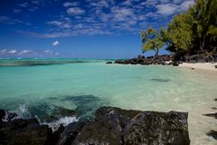 Idyllic Beach in Mauritius Royalty Free Stock Photo