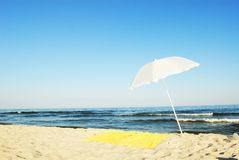 Idyllic beach scene Stock Images