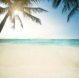 Idyllic beach and sea Stock Photography