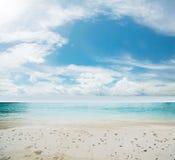 Idyllic beach and sea Stock Photos