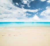 Idyllic beach and sea Stock Image
