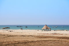 Idyllic beach in Senegal just north of Dakar Stock Photo