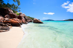 Idyllic beach in Seychelles Royalty Free Stock Images
