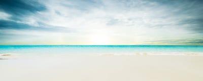 Idyllic beach. Tropical summer resort Stock Image