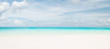 Idyllic beach. Tropical summer resort Stock Images