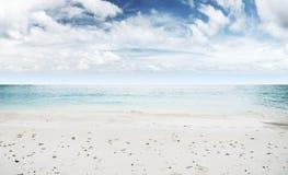 Idyllic beach. Tropical summer resort Royalty Free Stock Image
