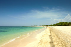 Idyllic beach in Varadero, Cuba Royalty Free Stock Photography