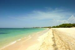 Idyllic beach in Varadero, Cuba Royalty Free Stock Photography