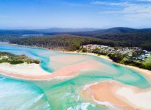 Idyllic beaches of Durras Australia stock photography
