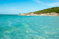 Idyllic Beautiful Blue Water Beach in Cuba Royalty Free Stock Images