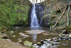 Idyllic and Beautiful Falling Foss on the May Beck River. North Yorkshire Moors, England Stock Image