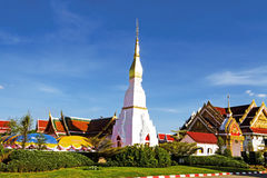 Idyllic blue sky Wat Pra That Choeng Chum Royalty Free Stock Images