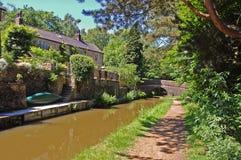 Idyllic British,Canalside scene Royalty Free Stock Photo
