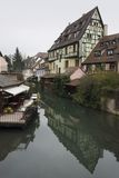 Idyllic canal scenery in Colmar Stock Images