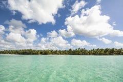 Idyllic Caribbean coastline Stock Images