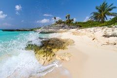 Idyllic Caribbean scenery. Idyllic Caribbean beach with white sand Stock Photography