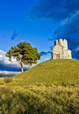 Idyllic chapel on the green hill Royalty Free Stock Image