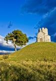 Idyllic chapel on the green hill Royalty Free Stock Image