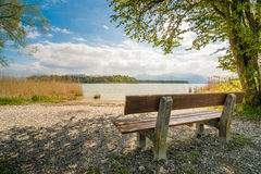 Idyllic Chiemsee. Lake Chiemsee in the bavarian Alps on a day in spring, germany Royalty Free Stock Photography