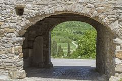 City gate in Roc. Idyllic city gate in Roc in Istria royalty free stock images