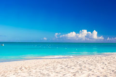 Idyllic clean perfect turquoise water and white Royalty Free Stock Photos