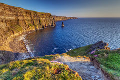 Idyllic Cliffs of Moher in Ireland. Cliffs of Moher in Co. Clare, Ireland Stock Photo