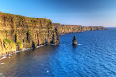 Idyllic Cliffs of Moher in Ireland Stock Photography