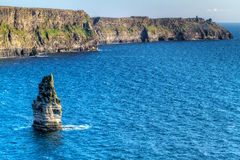 Idyllic Cliffs of Moher in Ireland. Cliffs of Moher in Co. Clare, Ireland Royalty Free Stock Photos