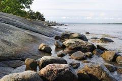 Idyllic coast Stock Images