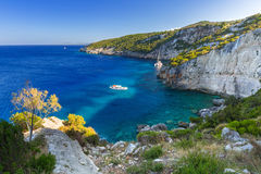 Idyllic coastline of Zakynthos island Stock Photos