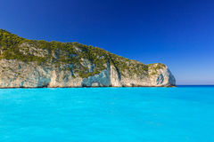 Idyllic coastline of Zakynthos island Royalty Free Stock Image