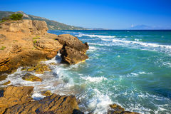 Idyllic coastline of Zakynthos island Royalty Free Stock Photos