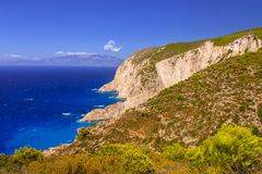 Idyllic coastline of Zakynthos island Royalty Free Stock Photography