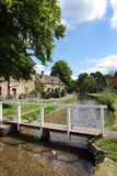 Idyllic Cotswolds village of Lower Slaughter Stock Photo