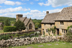 Idyllic Cotswolds village of Snowshill. Scenic view of Cotswolds village of Snowshill near Broadway, England Stock Photos