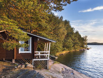 Idyllic cottage next to the Baltic Sea Royalty Free Stock Photography