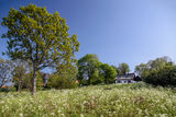 Idyllic country cottage Stock Images