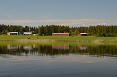 Idyllic countryside scenery in Finland, Northern Europe Royalty Free Stock Image