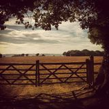 Idyllic English Countryside. Framed landscape taken in Kent, England Stock Photography