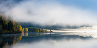 Idyllic fall mood at tyrol lake Stock Images