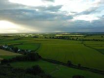 Idyllic farm land Stock Image