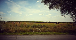 Idyllic Farmland Landscape. Image of a Landscape, works perfect For agricultural matters Royalty Free Stock Photography