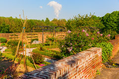 Idyllic garden in Bedburg-Kaster, Germany Royalty Free Stock Photos