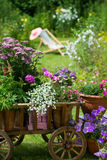 Idyllic garden Stock Photo