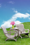 Idyllic garden seating Royalty Free Stock Photo