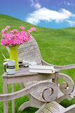 Idyllic garden seating Royalty Free Stock Photography