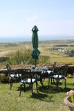 Idyllic garden in Wales, Great Britain. Iyllic garden and seating in Wales, Great Britain, United Kingdom Royalty Free Stock Photo